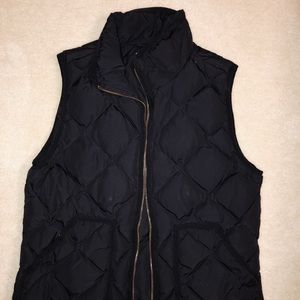 J-Crew Quilted Down Vest